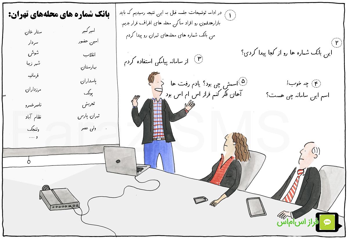 ارسال اس ام اس تبلیغاتی منطقه ای به محله های تهران