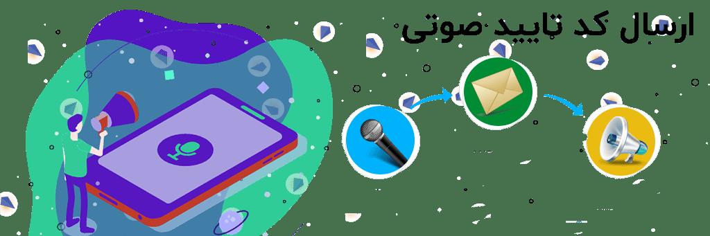 ارسال کد تایید صوتی
