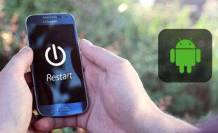 ری استارت کردن گوشی، راه حلی برای مشکل عدم دریافت پیامک