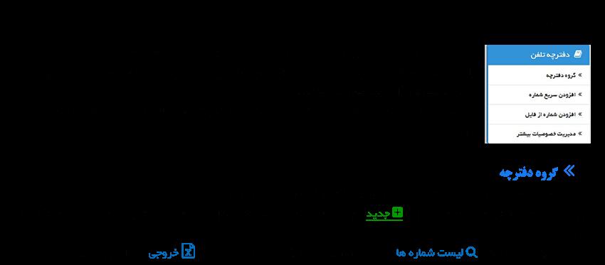 راهنمای دفترچه تلفن سامانه پیامک